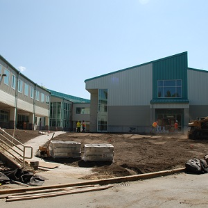 Eastlake High School during construction